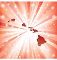 Red Hawaii vector image