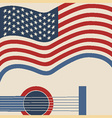 American country music poster vector image