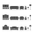 Set of silhouettes furniture vector image vector image