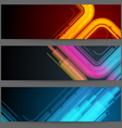 Futuristic banners vector image