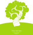 tree back vector image vector image