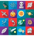 Space icons set flat style vector image vector image