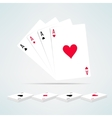 Four aces hand composition in realistic and clean vector image