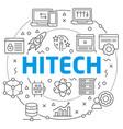 hitech linear slide vector image