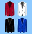 man suit set on blue background business flat vector image
