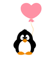 Penguin with balloon vector image