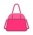 Pink handbag fashion woman vector image