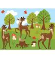 Cartoon Deers vector image