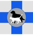 Zoo vet emblem vector image vector image