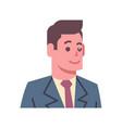 male winking emotion icon isolated avatar man vector image