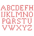 Embroidered stitch alphabet All latters vector image vector image