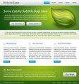 website template vector image vector image