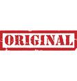 Red stamp original vector image