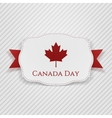Canada Day Tag with Ribbon vector image