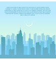 City skyline urban cityscape vector image