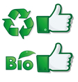like eco bio vector image