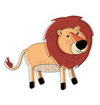 lion cartoon watercolor silhouette in white vector image