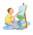 Painting boy vector image