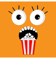 Popcorn screaming orange face vector image