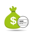 sack money with card credit and debit bank vector image