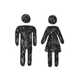 Toilet people icon vector image