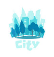 urban landscape in flat style city skyline vector image