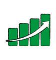 growing arrow business vector image