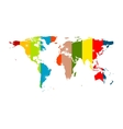 Colorful abstract world map background vector image vector image