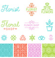 floral logos vector image vector image