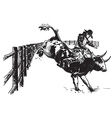 An hand drawn freehand - Rodeo vector image
