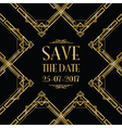save the date art deco card vector image