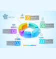 abstract business diagram infographics vector image