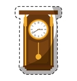 brown pendulum clock icon image vector image