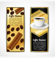 Coffee banners vertical vector image