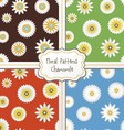 Floral pattern set vector image