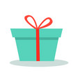 gift box with ribbon isolated vector image
