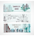 Isometric Building Banners vector image