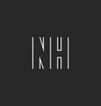 Letter NH logo monogram decoration design element vector image