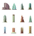 Office buildings historical and modern world most vector image