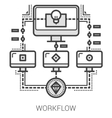 Workflow line icons vector image