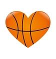 basketball heart love vector image