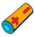 electronic cigarette battery icon cartoon vector image