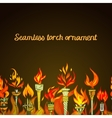 Seamless torch ornament vector image