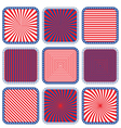 Button stylized colors of the USA flag vector image