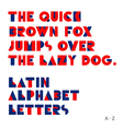 Geometric shapes alphabet letters vector image