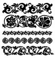 floral ornament set vector image vector image