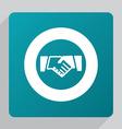 flat Handshake icon vector image
