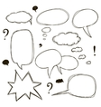 Set of sketch style speech bubbles vector image