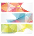 Banners with pattern of geometric shapes vector image