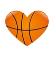 basketball heart love vector image